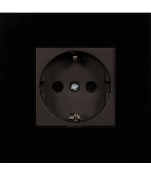 2 TIS-TERRE 1 Gang Cover (черное стекло)