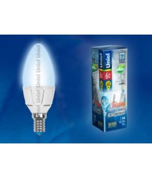 LED-C37-6W/NW/E27/FR/DIM ALP01WH пластик