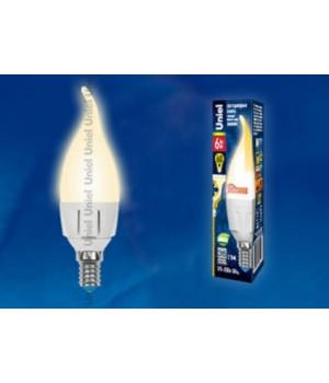 LED-CW37-6W/WW/E14/FR/DIM ALP01WH пластик