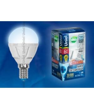 LED-G45-6W/NW/E14/FR/DIM PLP01WH картон