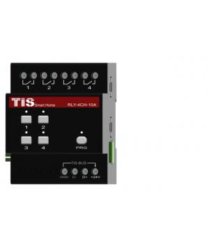 TIS-RLY-4ch-10A (Релейнй 4-х канальный 10А модуль)