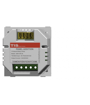 TIS-ADD-3R-5A (3х канальный релейный модуль для настенной панели, 3А на канал)