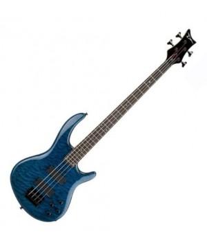 Бас гитара 4 струнная Edge Q4 Bass Trans Blue DEAN EQ4 TBL