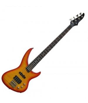 Бас гитара 4 струнная Andromeda Flame Bass T. Amber W bag LUNA AND DCB FL AMB